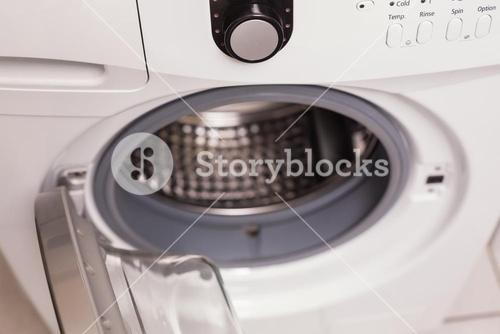High angle view of washing machine