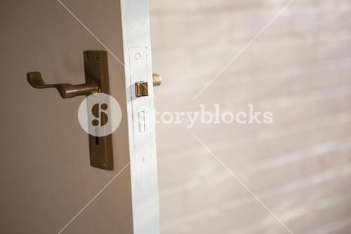 Close up of the lock of a door