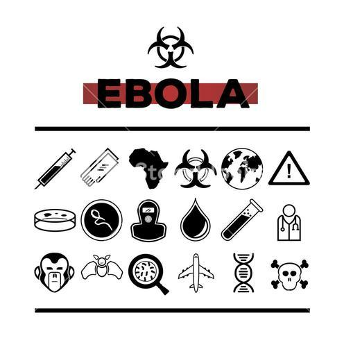 Ebola vector with text and symbols