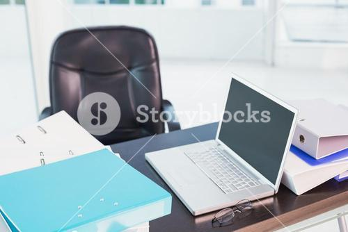 A desk with furnitures