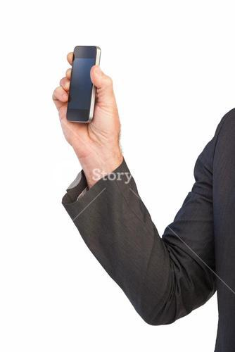 Hand showing a mobile phone