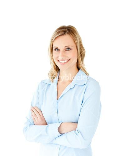 Portrait of a successful businesswoman with folded arms