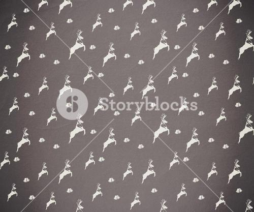 Grey and white reindeer pattern wallpaper