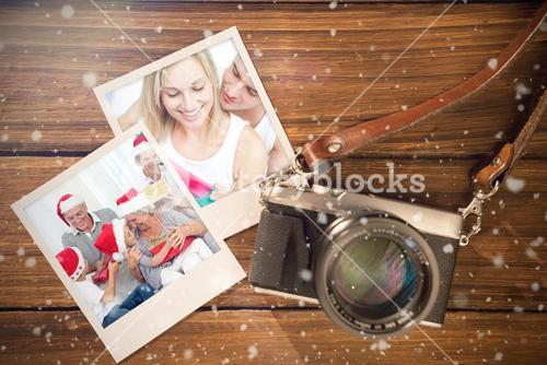 Composite image of christmas memories
