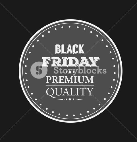 Black friday vector on badge