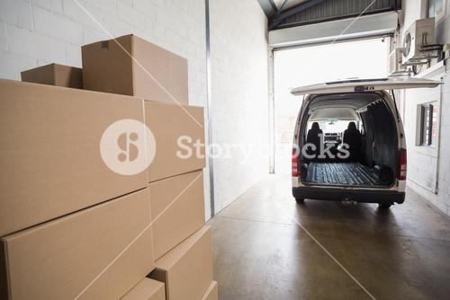 Empty van ready to be loaded