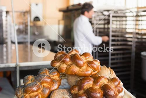 Board of different types of bread