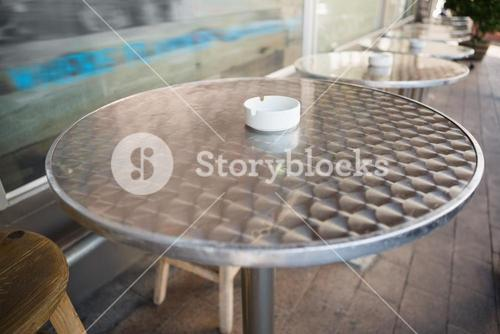 Bar stool and table with ash tray