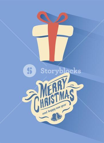 Merry christmas vector with gift