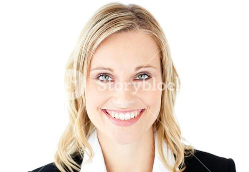 Portrait of a beautiful businesswoman smiling at the camera