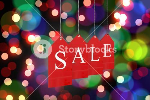 Composite image of red sale tags