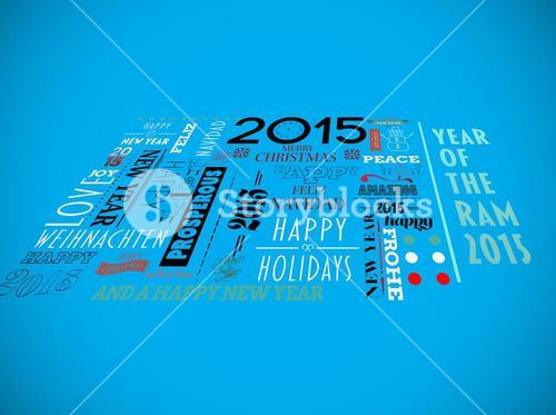 Composite image of holidays word jumble