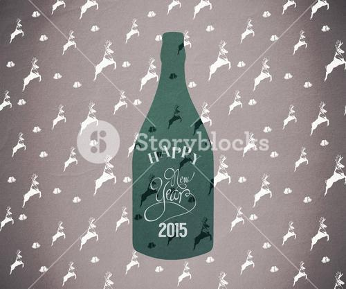 Composite image of new year bottle