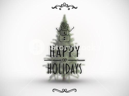 Composite image of happy holidays banner