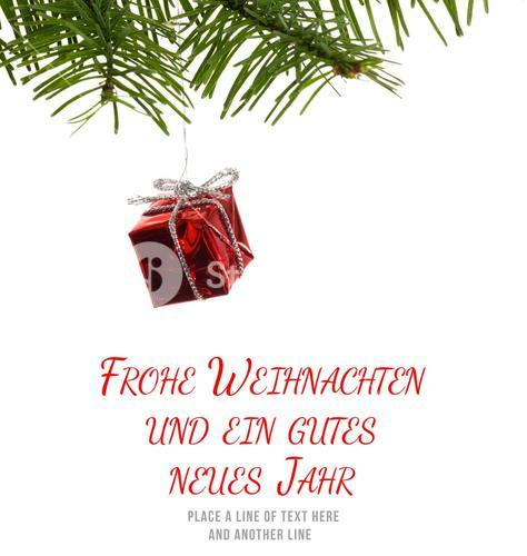 Composite image of frohe weihnachten message