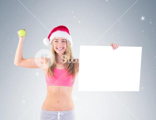 Festive fit blonde showing poster