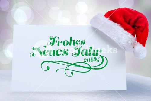 Composite image of frohes neues jahr