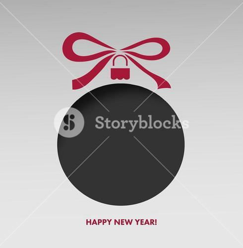 Happy new year greeting with bauble