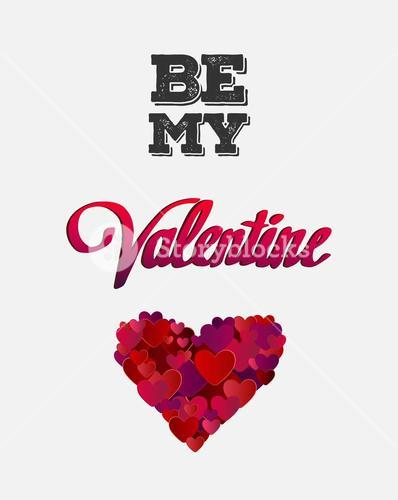 Be my valentine vector with heart