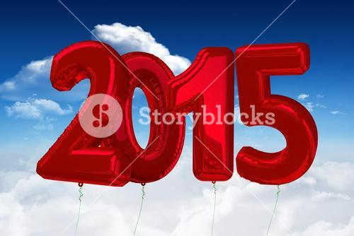 Composite image of 2015 red ballons