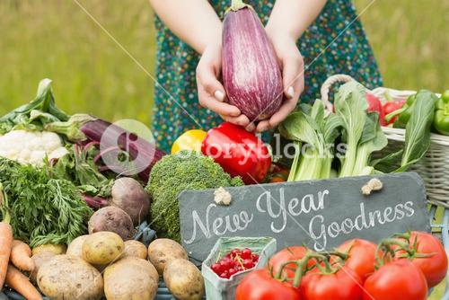 Composite image of new year goodness