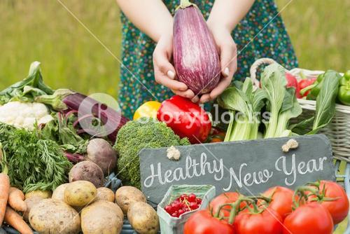 Composite image of healthy new year