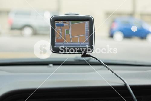 Screen of satellite navigation system