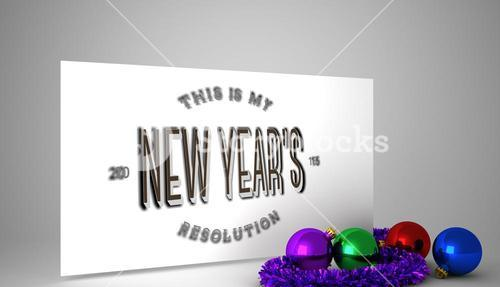 Composite image of new years resolution