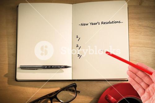 CComposite image of new years resolutions