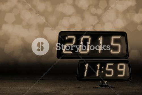 Composite image of clock on a minute to midnight