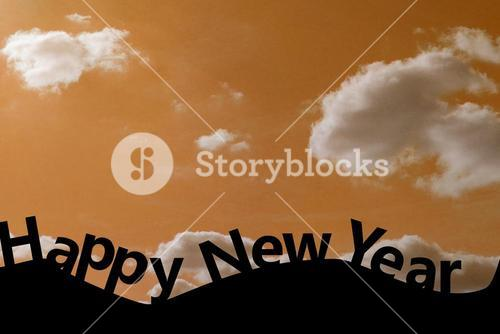 Composite image of happy new year
