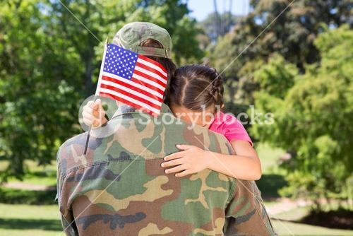 American soldier reunited with daughter