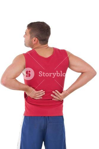 Fit man with injured back