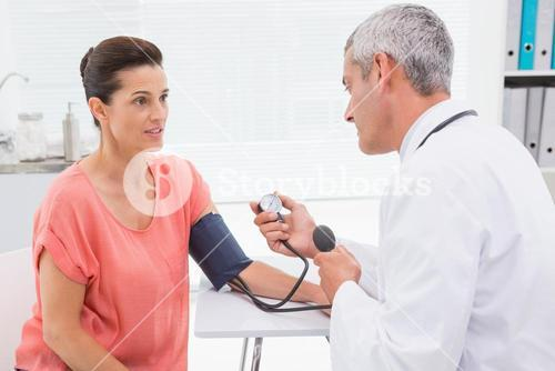 Doctor doing test at his patient