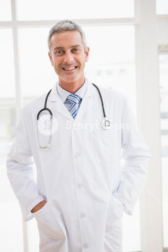 Doctor smiling at camera