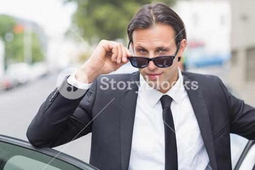 Businessman looking at the camera