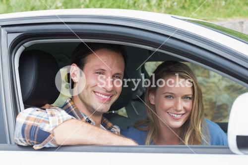 Couple smiling at the camera