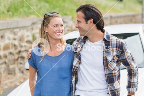 Couple smiling each other