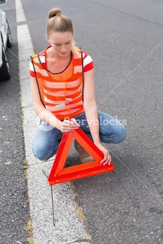 Triangle warning sign