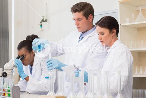 Scientists doing experimentations