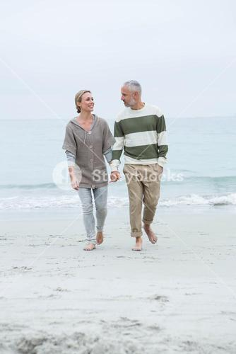 Cute couple walking together