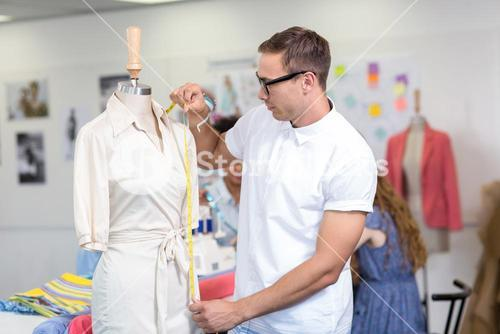 Male fashion designer at work