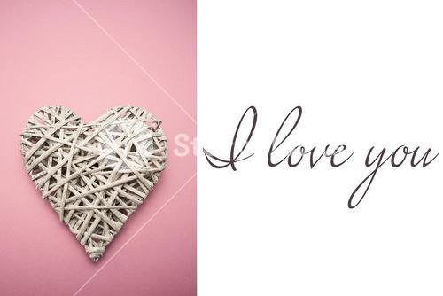 Composite image of wicker heart ornament