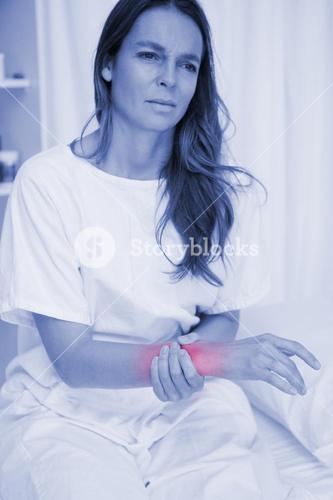 Woman suffering from pain