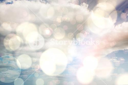 Composite image of light glowing dots design pattern