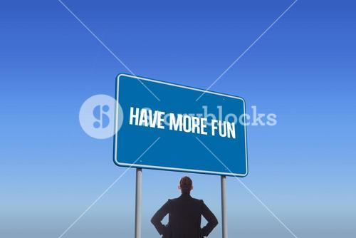 Have more fun against bright blue sky