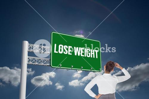 Lose weight against sky