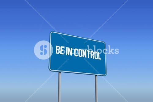 Be in control against bright blue sky