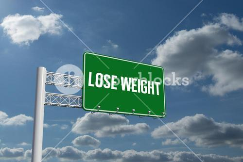 Lose weight against sky and clouds