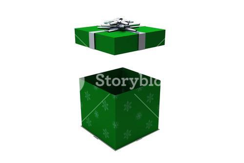 Green and silver gift box